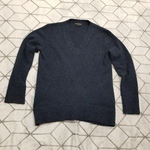 B30 Banana Republic 100% Cashmere Blue Crew Neck